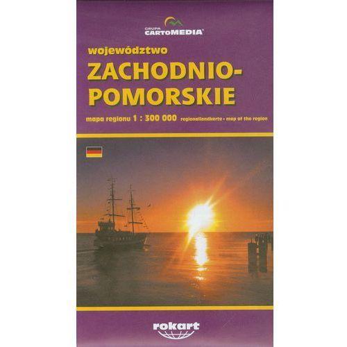 Województwo zachodniopomorskie mapa regionu 1:300 000 - DODATKOWO 10% RABATU i WYSYŁKA 24H!, praca zbiorowa