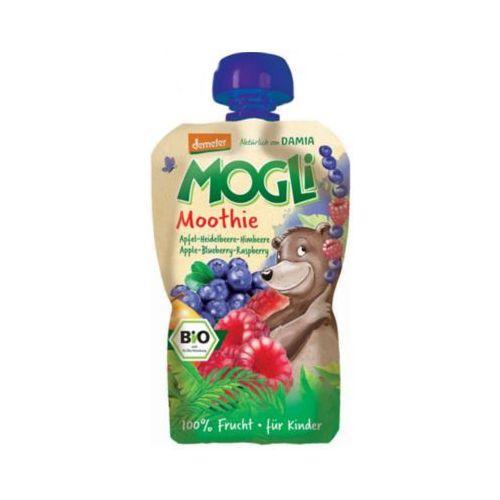 100g moothie przecier jabłkowy z bananem jagodą i maliną bio marki Mogli