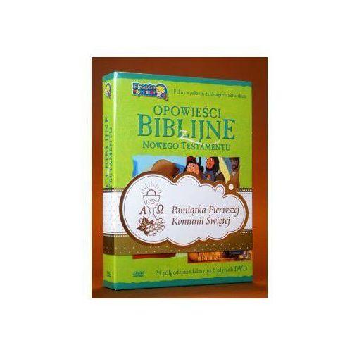 Praca zbiorowa Opowieści biblijne z nowego testamentu (box 6 płyt dvd) zestaw komunijny