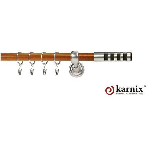 Karnisz Metalowy Prestige pojedynczy 16mm Dakota Premium Chrom mat - calvados, marki Karnix do zakupu w ikarnisze.pl - Home&Design