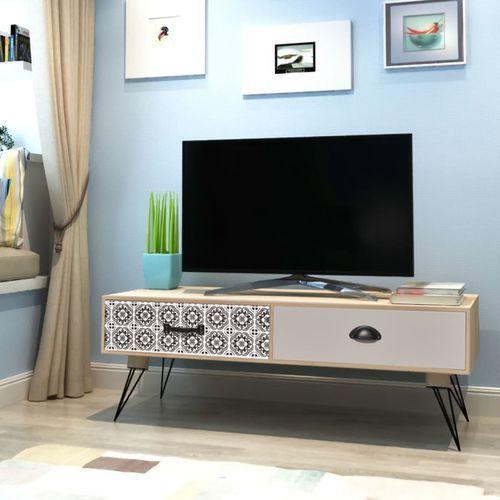 stolik pod telewizor brązowy 100x40x35 cm marki Vidaxl