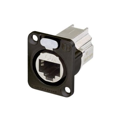 Neutrik NE8FDX-P6B RJ45 złącze tablicowe CAT6A feedthrough czarne