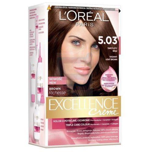 Excellence Creme farba do włosów 5.03 Świetlisty brąz - L'Oreal Paris, kolor brąz