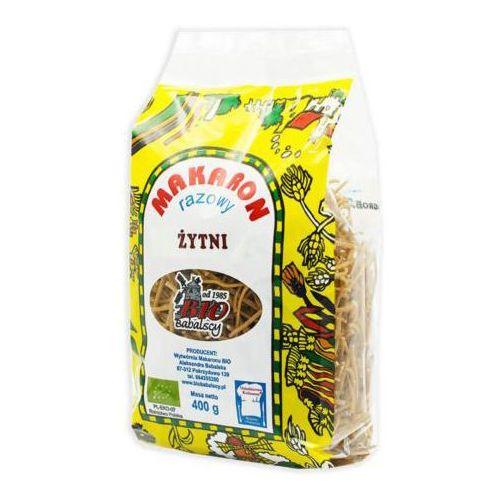 Makaron (Żytni Razowy) Nitka Bio 400 g -Bio Babalscy