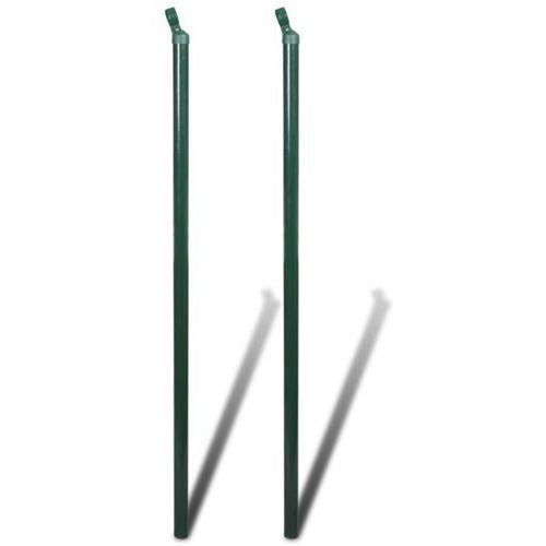 vidaXL Słupki podporowe ogrodzenia 2 szt 200cm