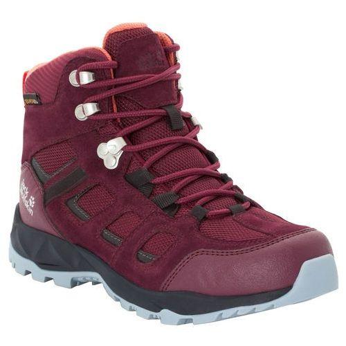 Jack wolfskin Damskie buty trekkingowe vojo hike xt texapore mid w burgundy / phantom - 8 (4060477344461)