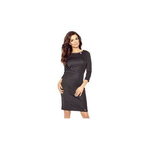 aaae3e6e8b 11-09 Tesso - klasyczna sukienka dzienna w kroju tuby (CZARNY)