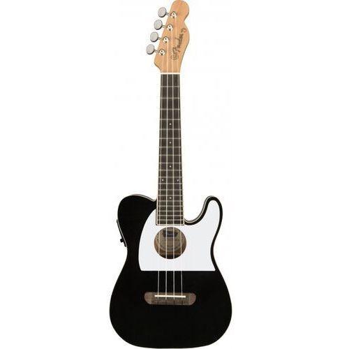 Fender fullerton telecaster ukulele black ukulele koncertowe elektroakustyczne