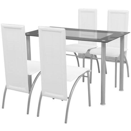 Vidaxl  zestaw mebli do jadalni - 5 elementów biały, kategoria: zestawy mebli kuchennych