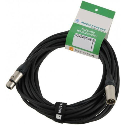 mic pro 6m przewód mikrofonowy xlr-m - trs, neutrik, my206, z opaską marki Klotz