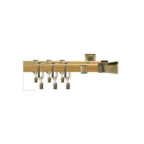 Karnisze apartamentowe ROYAL / Karnisz ROYAL Tropea podwójny antyk mosiądz-pinia - oferta [c518ee0ab192329a]