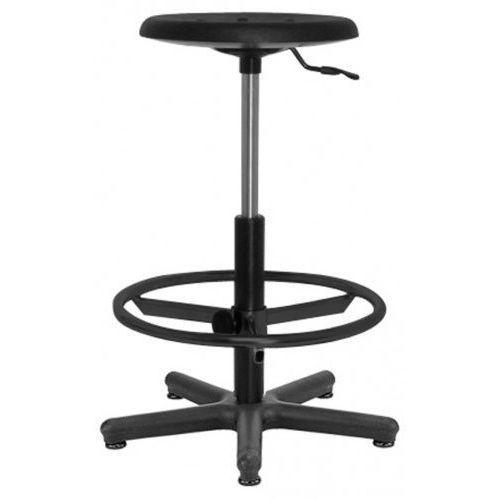 Krzesło specjalistyczne GOLIAT pu ts12 + ring base - obrotowe z regulowanym podnóżkiem