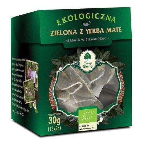 HERBATA ZIELONA Z YERBA MATE PIRAMIDKI BIO (15 x 2 g) - DARY NATURY