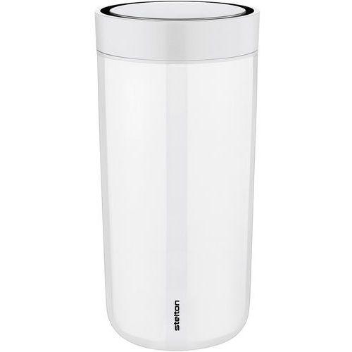 Stelton Stalowy kubek termiczny to go click, 0,34 l, biała kreda - (5709846017610)