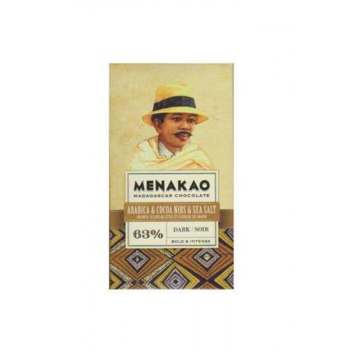 Menakao Czekolada 63% arabica, nibsy, sól 25g (3760155713039)