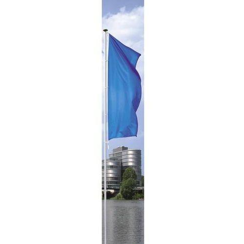 Mannus Maszt flagowy z aluminium pirat, bez wysięgnika, wys. nad podłożem 10 m, Ø 100 m