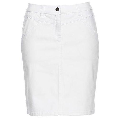 Spódniczka dżinsowa biały, Bonprix, 36-54