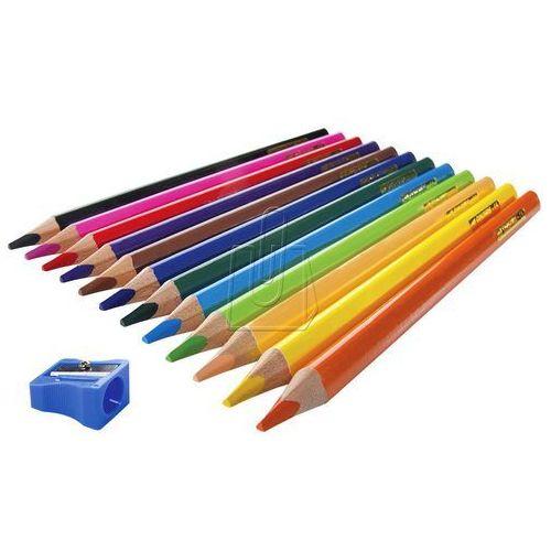 Kredki Easy grube ołówkowe trójkątne 12 kolorów, 19854
