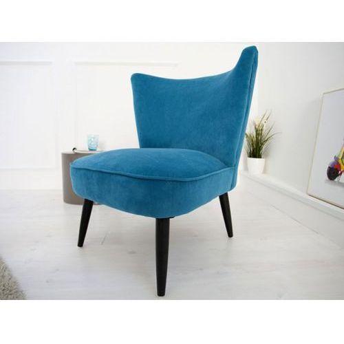 Fotel Retro Sixties Samtstoff niebieski Invicta Interior i35020, marki IiNTERIOR do zakupu w sfmeble.pl