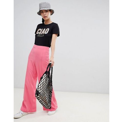 New Look Wide Leg Trouser - Pink, kolor różowy