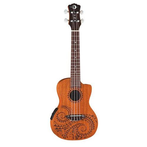 Luna Uke Tattoo A/E Mahogany - elektryczne ukulele koncertowe