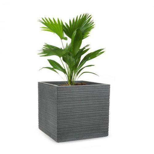 Blumfeldt Luxflor doniczka na rośliny 55x50x55cm włókno szklane do wewnątrz/na zewnątrz ciemnoszary
