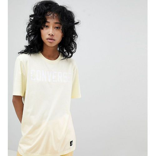 Converse Premium Essentials Logo T-Shirt In Lemon - Yellow