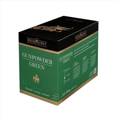 Richmont Herbata zielona o ziołowym aromacie, 50 saszetek | , gunpowder green