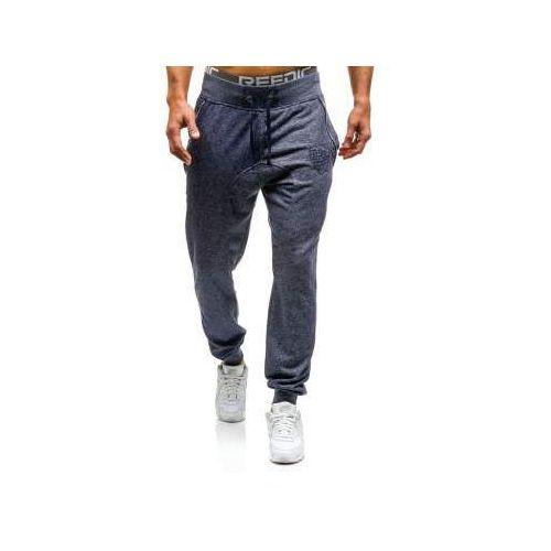 4c7c507fea0f50 Spodnie dresowe baggy męskie granatowe Denley 7025 39,99 zł Oryginalne,  granatowe spodnie dresowe Denley w melanżowy wzór. Dobrze się noszą, fajnie  leżą na ...
