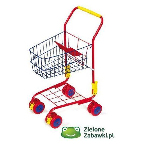Czerwony wózek na zakupy, small foot - zabawa w sklep