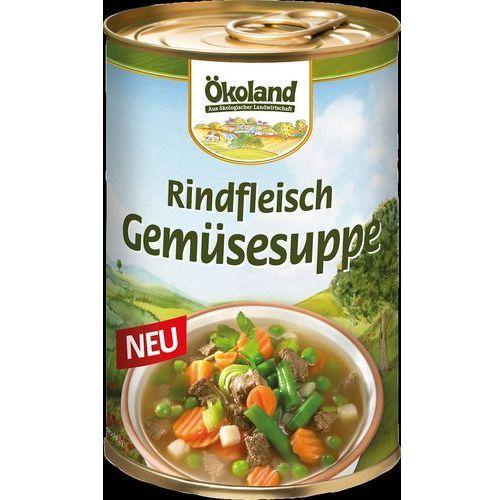 Zupa warzywno-wołowa w puszce bio 400 g - okoland marki Okoland (parówki w zalewie)