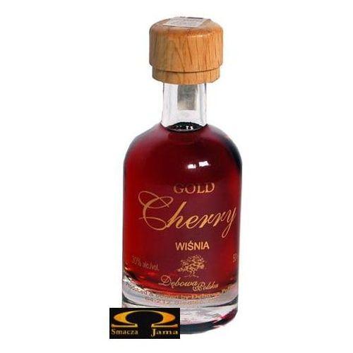 Dębowa polska Wódka dębowa gold cherry miniaturka 0,05l (5903983402999)