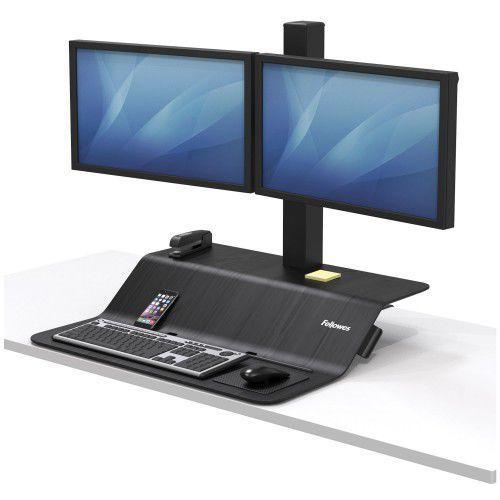 Stanowisko do pracy sit-stand lotus™ ve na dwa monitory marki Fellowes