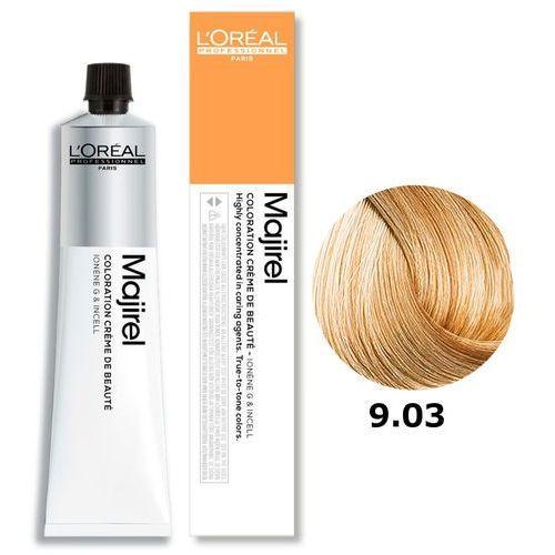 Loreal majirel   trwała farba do włosów - kolor 9.03 bardzo jasny blond złocisto naturalny 50ml