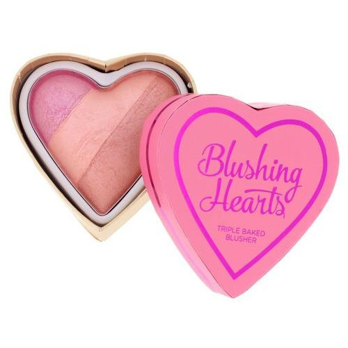 Makeup revolution Triple baked blusher blushing hearts róż do policzków candy queen of hearts 10g (5029066027016)