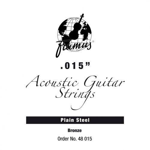 bronze - struna pojedyncza do gitary akustycznej.015, plain marki Framus