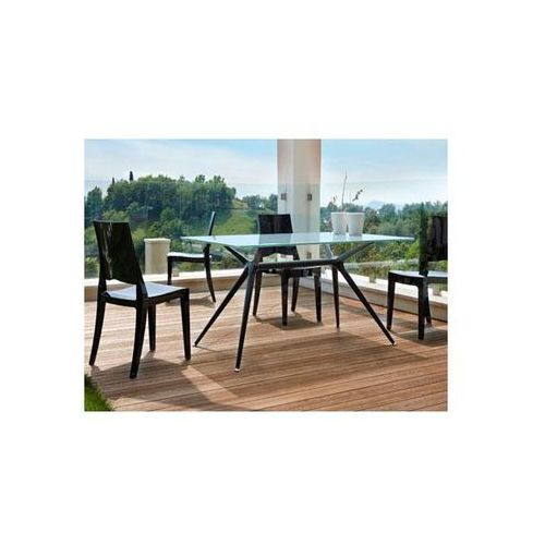Stół Metropolis IV szaroniebieski nogi czarne Machina Meble 5312-413-7011-VN-001 - produkt dostępny w sfmeble.pl