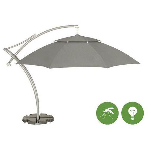 Parasol ogrodowy Ibiza 4,2m Sunbrela z podstawą (3737) + moskitiera, oświetlenie, LITEX Promo Sp. z o.o. z Litex Garden
