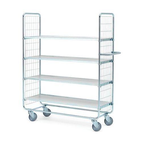 Array Wózek o 4 półkach - wymiary półki: 1200x425 mm - wysokość wózka: 1565 mm
