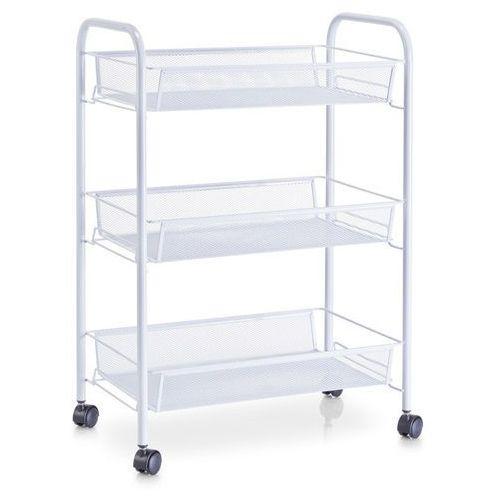 Zeller Wózek łazienkowy, regał na przybory - 3 poziomy, biały, (4003368177212)