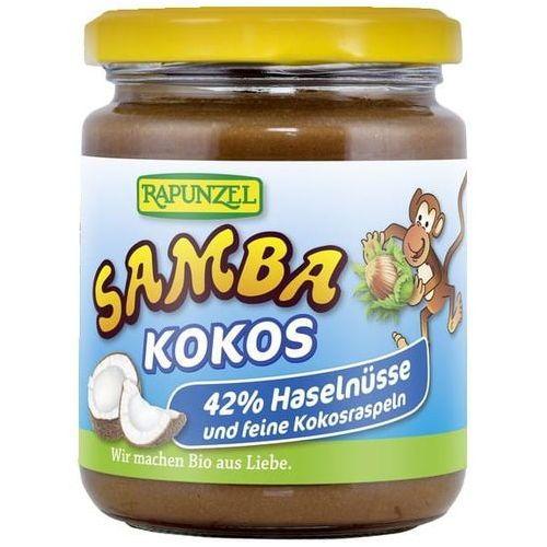 Krem orzechowo - czekoladowy z kokosem samba bio 250 g - rapunzel marki Rapunzel (kremy orzechowe, kostki, ketchupy, inne