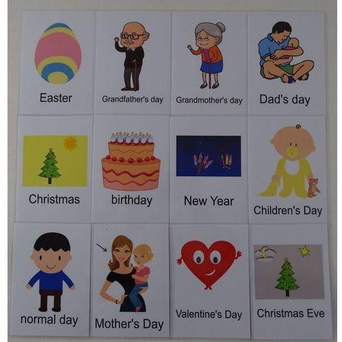 Dni świąteczne karty edukacyjne wersja w j. angielskim