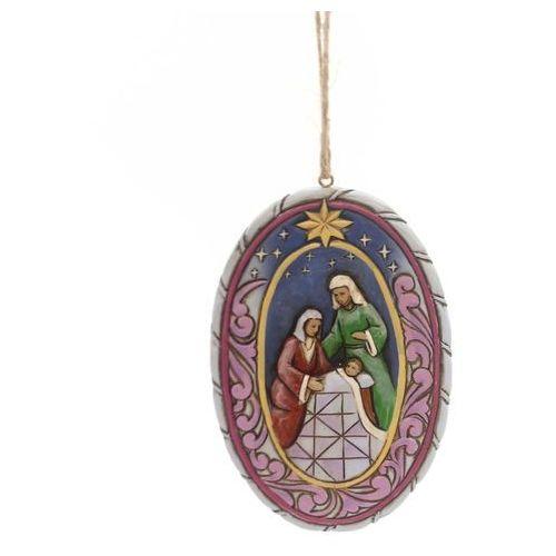 Święta Rodzina zawieszka owalna Holy Family Oval Ornament 4051537 Jim Shore figurka ozdoba świąteczna
