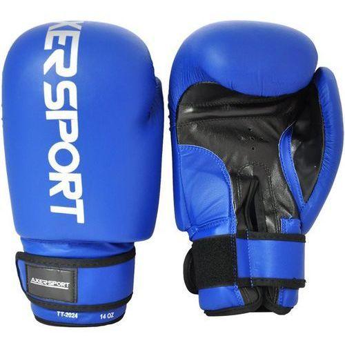 Axer sport Rękawice bokserskie a1324 niebieski (14 oz) + zamów z dostawą jutro!