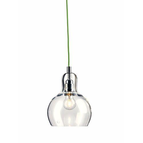 Lampa wisząca longis i 10123109 szklana oprawa minimalistyczny zwis przezroczysty zielony marki Kaspa