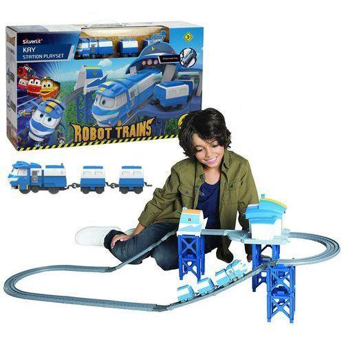 Cobi Robot trains stacja z pociągiem kay zestaw