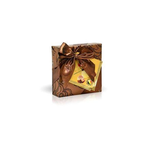 Belgijskie pralinki 50g, złote ze wstążką marki Delafaille