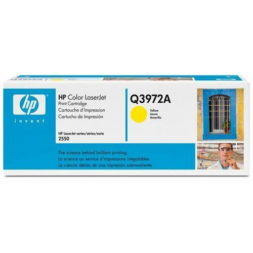 Wyprzedaż Oryginał HP Color LaserJet 2550 Print Cartridge, yellow (up to 2000 pages)