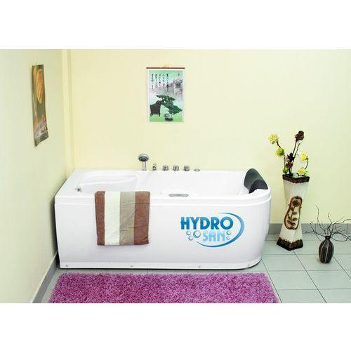 Wanna z hydromasażem geco 718 160x80 marki Hydrosan