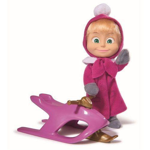 Simba, Masza i Niedźwiedź, lalka Masza na skuterze śnieżnym (lalka) od Smyk